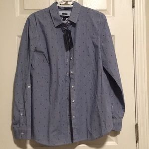 Tommy Hilfiger Gingam anchor blue button open top